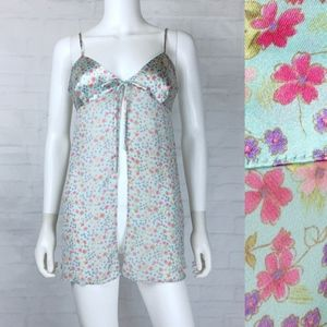 Victoria's Secret Front Split Green Floral Teddies